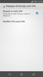 Sony Xpéria Z3 - Sécuriser votre mobile - Personnaliser le code PIN de votre carte SIM - Étape 6