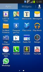 Samsung Galaxy Fresh Duos - Aplicações - Como configurar o WhatsApp -  4