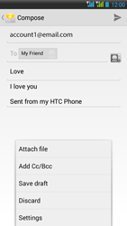 HTC Desire 516 - Email - Sending an email message - Step 12