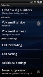 Sony Xperia Neo V - Voicemail - Manual configuration - Step 5