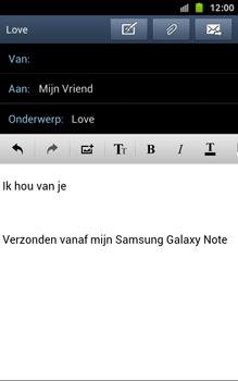 Samsung N7000 Galaxy Note - OS 4 ICS - E-mail - hoe te versturen - Stap 11