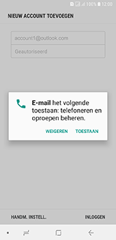 Samsung Galaxy A6 - E-mail - handmatig instellen (outlook) - Stap 10