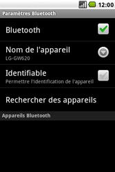 LG GW620 - Bluetooth - connexion Bluetooth - Étape 9