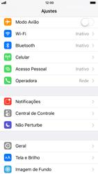 Apple iPhone iOS 11 - Primeiros passos - Como encontrar o número de IMEI do seu aparelho - Etapa 3