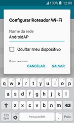 Samsung Galaxy J1 - Wi-Fi - Como usar seu aparelho como um roteador de rede wi-fi - Etapa 8