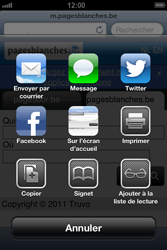 Apple iPhone 4 - iOS 6 - Internet - navigation sur Internet - Étape 10