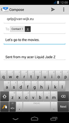 Acer Liquid Jade Z - Email - Sending an email message - Step 8