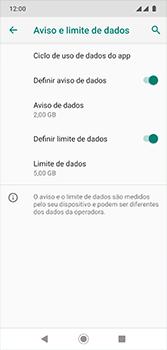 Motorola Moto G7 - Rede móvel - Como definir um aviso e limite de uso de dados - Etapa 16