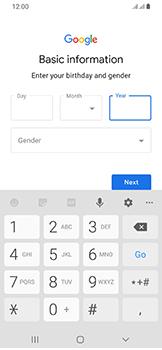 Samsung Galaxy A40 - Applications - Create an account - Step 9