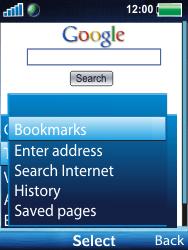 Sony Ericsson W100i Spiro - Internet - Internet browsing - Step 13
