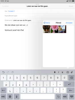 Apple ipad-mini-5-7-9-inch-2019-model-a2124 - E-mail - Bericht met attachment versturen - Stap 10