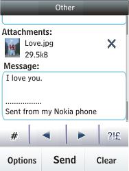 Nokia C2-03 - E-mail - Sending emails - Step 17