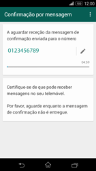 Sony Xperia M2 - Aplicações - Como configurar o WhatsApp -  8