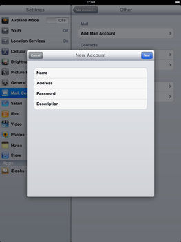 Apple iPad 2 - E-mail - Manual configuration - Step 6