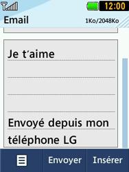 LG T580 - E-mails - Envoyer un e-mail - Étape 9