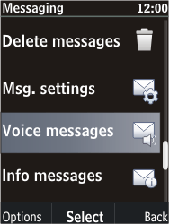 Nokia C2-05 - Voicemail - Manual configuration - Step 5