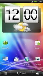 HTC X515m EVO 3D - Internet - Example mobile sites - Step 1