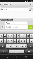 Sony Xperia Z - Mensajería - Escribir y enviar un mensaje multimedia - Paso 12