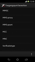 Sony C1905 Xperia M - MMS - Handmatig instellen - Stap 12