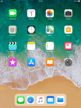 Apple iPad Air 2 - iOS 11 - WiFi and Bluetooth - Manual configuration - Step 1
