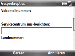 HTC S521 Snap - SMS - Handmatig instellen - Stap 6