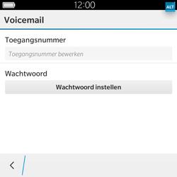 BlackBerry Classic - Voicemail - Handmatig instellen - Stap 7