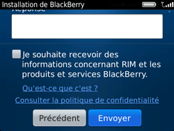 BlackBerry 9720 Bold - BlackBerry activation - BlackBerry ID activation - Étape 12
