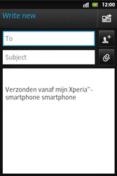 Sony ST27i Xperia Go - Email - Sending an email message - Step 5