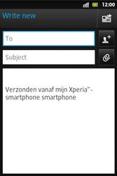 Sony ST27i Xperia Go - E-mail - Sending emails - Step 5