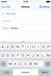 Apple iPhone 4S - E-mails - Envoyer un e-mail - Étape 7