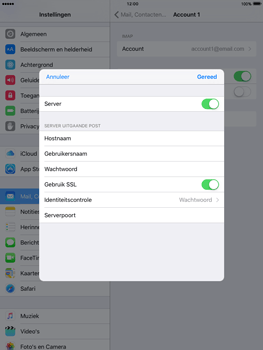 Apple iPad Air 2 iOS 9 - E-mail - Account instellen (IMAP met SMTP-verificatie) - Stap 20