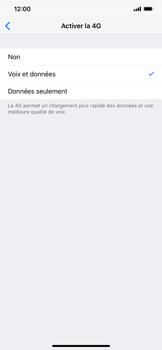 Apple iPhone XS Max - Internet et connexion - Activer la 4G - Étape 7