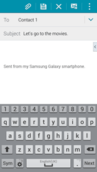 Samsung G901F Galaxy S5 4G+ - Email - Sending an email message - Step 9