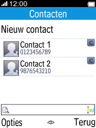 Alcatel 2045 (2045X) - Contacten en data - Contacten overzetten via Bluetooth - Stap 4