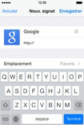 Apple iPhone 4 S iOS 7 - Internet - Navigation sur Internet - Étape 6