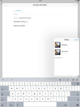 Apple Apple iPad Pro 12.9 - iOS 11 - Email - Sending an email message - Step 9
