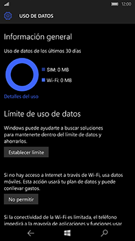 Microsoft Lumia 950 XL - Internet - Ver uso de datos - Paso 6