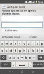 Sony D2105 Xperia E1 Dual - Email - Como configurar seu celular para receber e enviar e-mails - Etapa 6