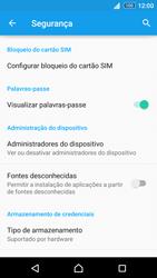 Sony Xperia Z3 Plus - Segurança - Como ativar o código PIN do cartão de telemóvel -  5