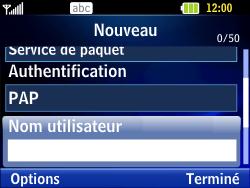 LG C320 InTouch Lady - Internet - Configuration manuelle - Étape 8
