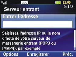 LG C320 InTouch Lady - E-mail - Configuration manuelle - Étape 7