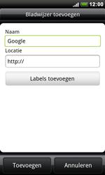 HTC S510e Desire S - Internet - Hoe te internetten - Stap 6