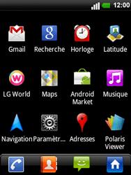 LG C660 Optimus Pro - Wifi - configuration manuelle - Étape 2