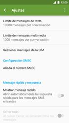 BQ Aquaris U - Mensajería - Configurar el equipo para mensajes de texto - Paso 6