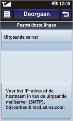 LG KM900 Arena - E-mail - Handmatig instellen - Stap 14