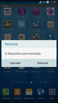 Samsung N910F Galaxy Note 4 - Funções básicas - Como reiniciar o aparelho - Etapa 4