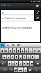Sony LT22i Xperia P - E-mail - Sending emails - Step 6