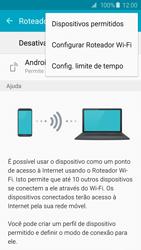 Samsung Galaxy S6 - Wi-Fi - Como usar seu aparelho como um roteador de rede wi-fi - Etapa 7
