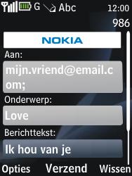 Nokia 2730 classic - E-mail - Hoe te versturen - Stap 10
