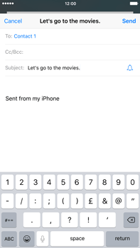 Apple iPhone 6s Plus - E-mail - Sending emails - Step 7
